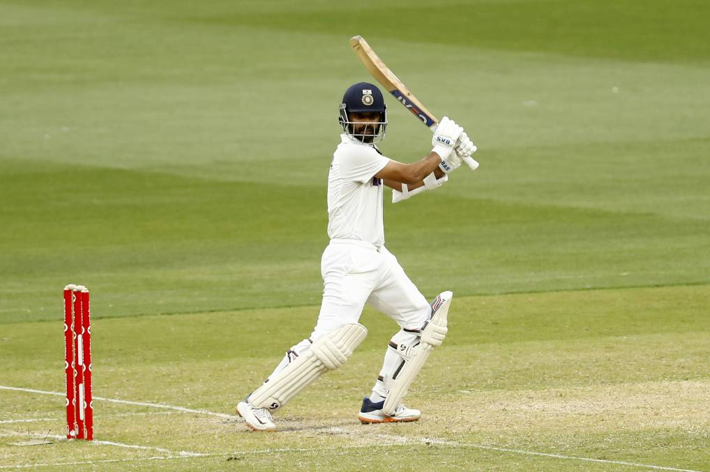 India's Ajinkya Rahane is the only batsman to stand out with the bat so far this series. Photo: Darrian Traynor - CA/Cricket Australia via Getty Images